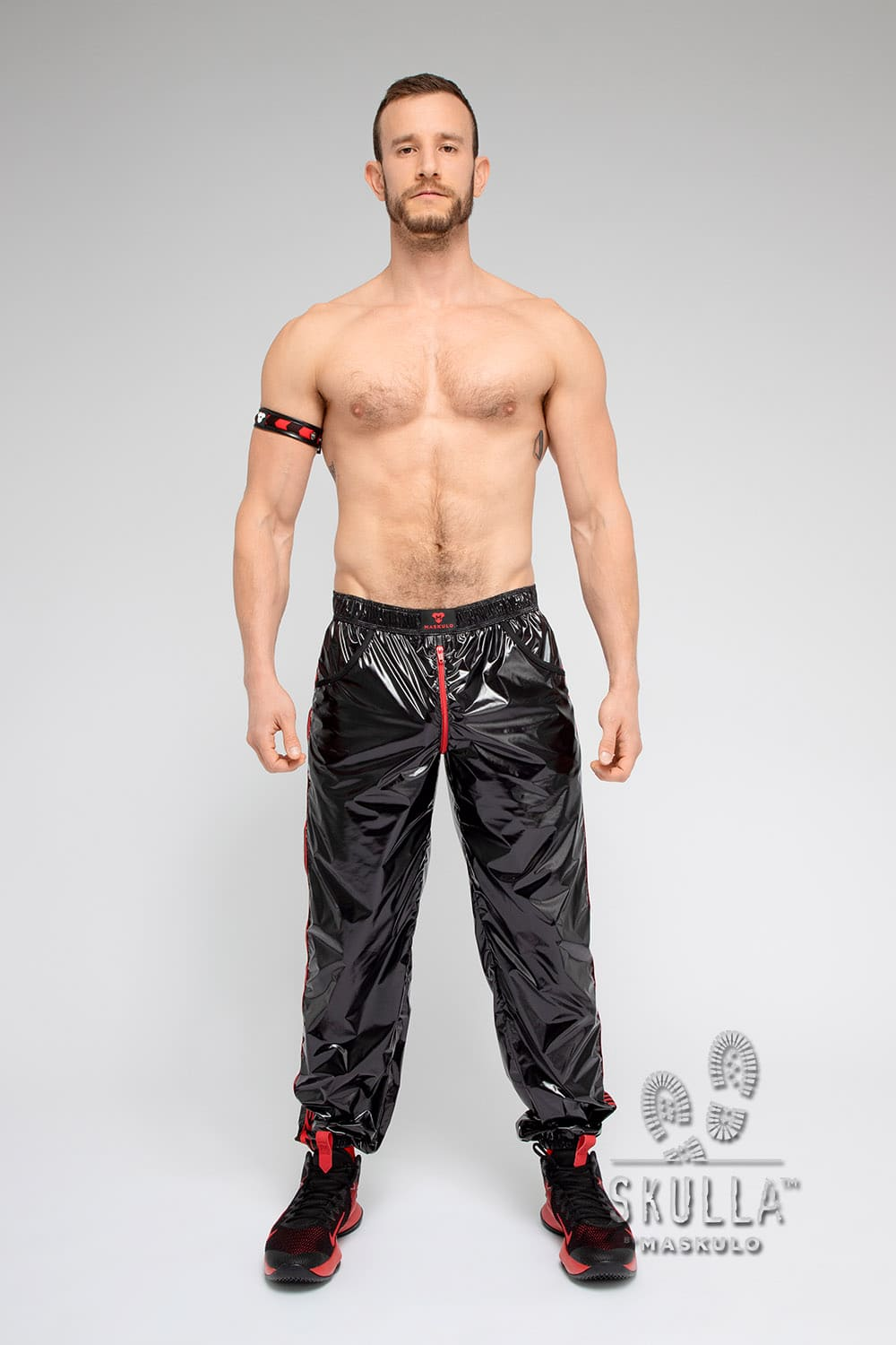 Skulla. Shiny Nylon Pants