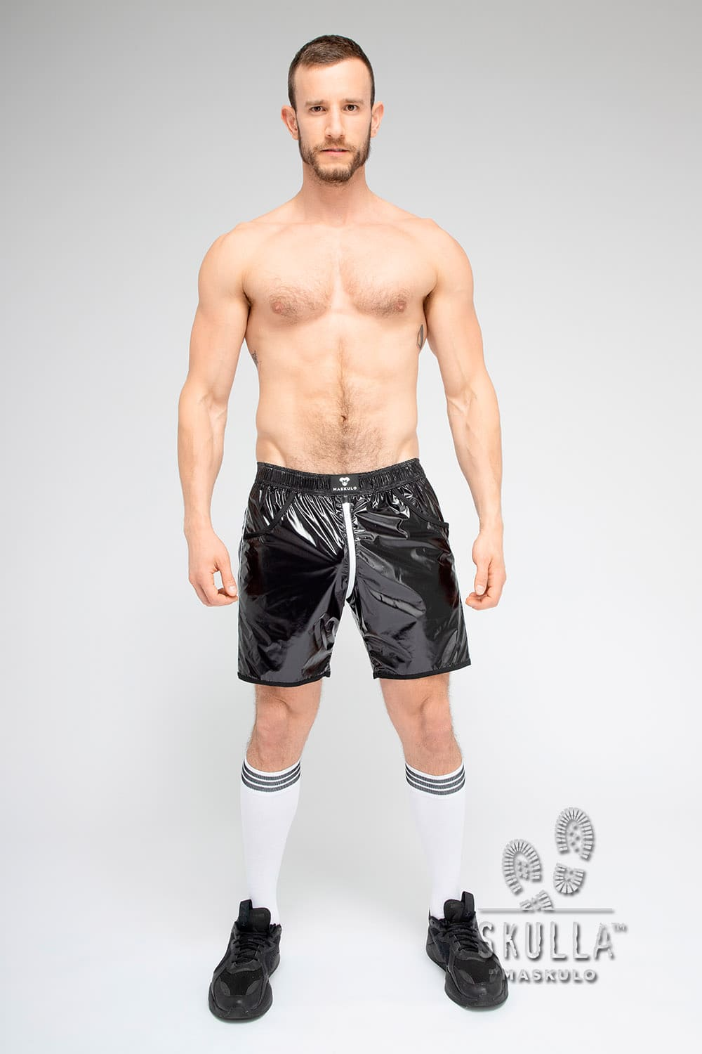 Skulla. Shiny Nylon Soccer shorts