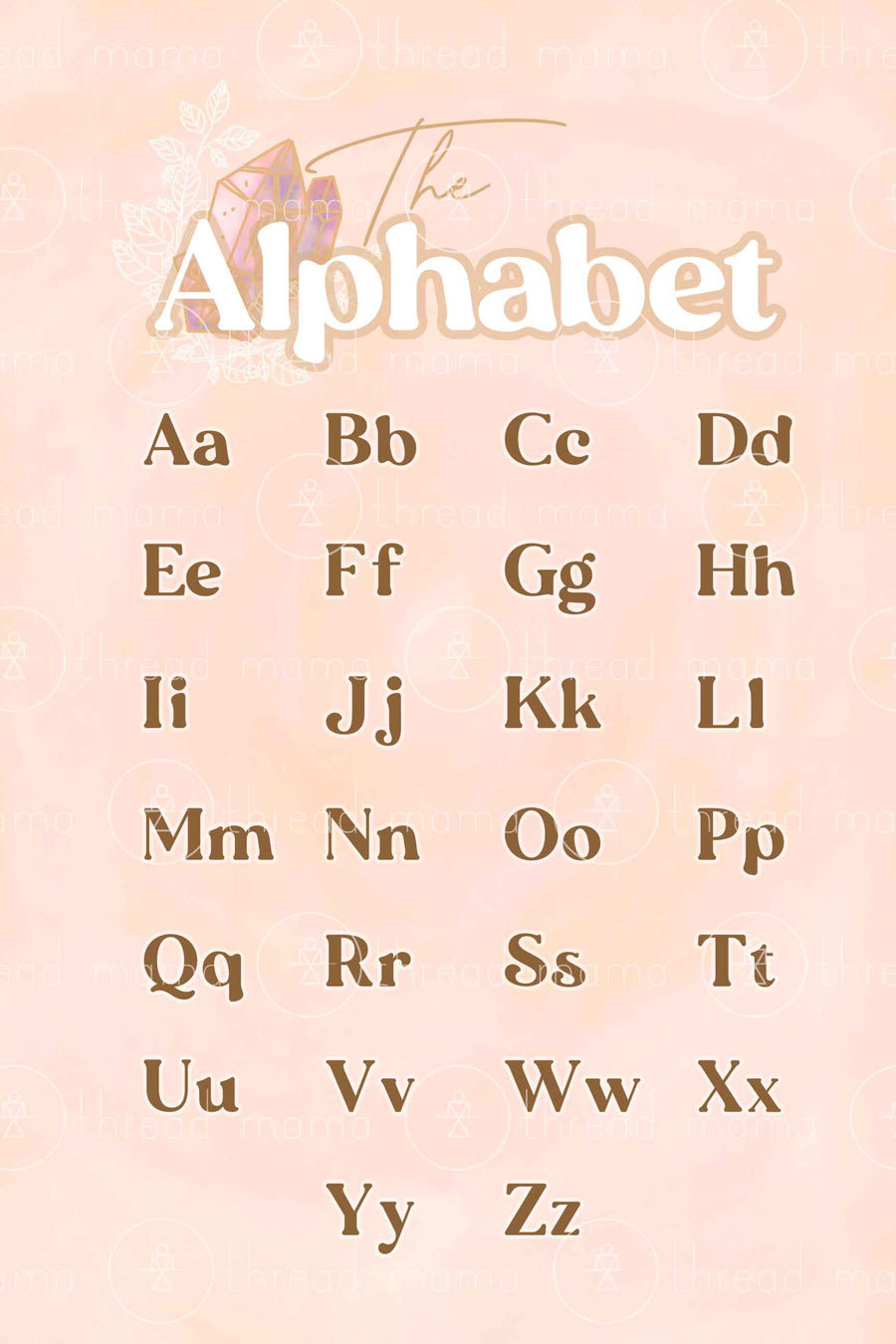 Alphabet & ABC - Gem Collection (Printable Poster)
