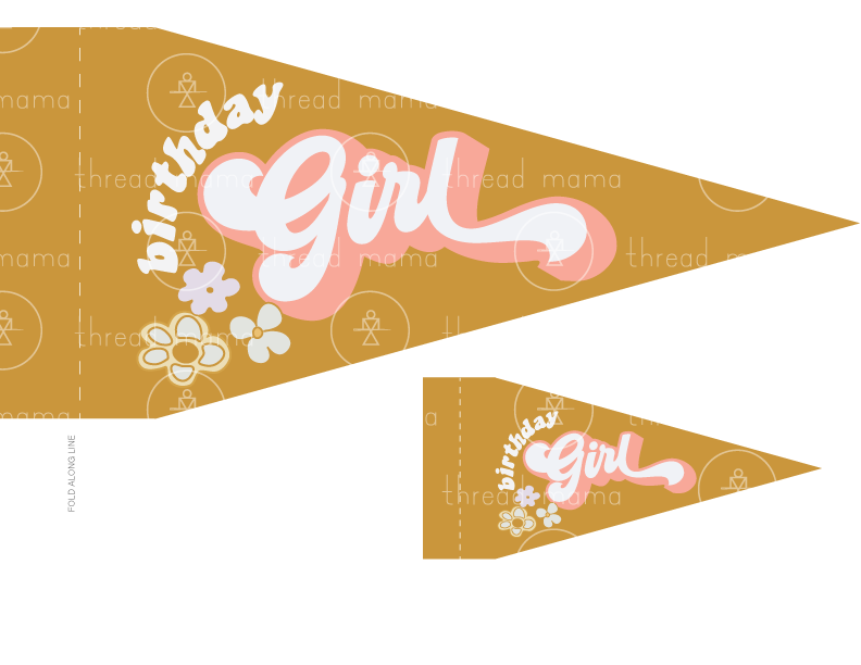 Birthday Girl (Printable Pennant)