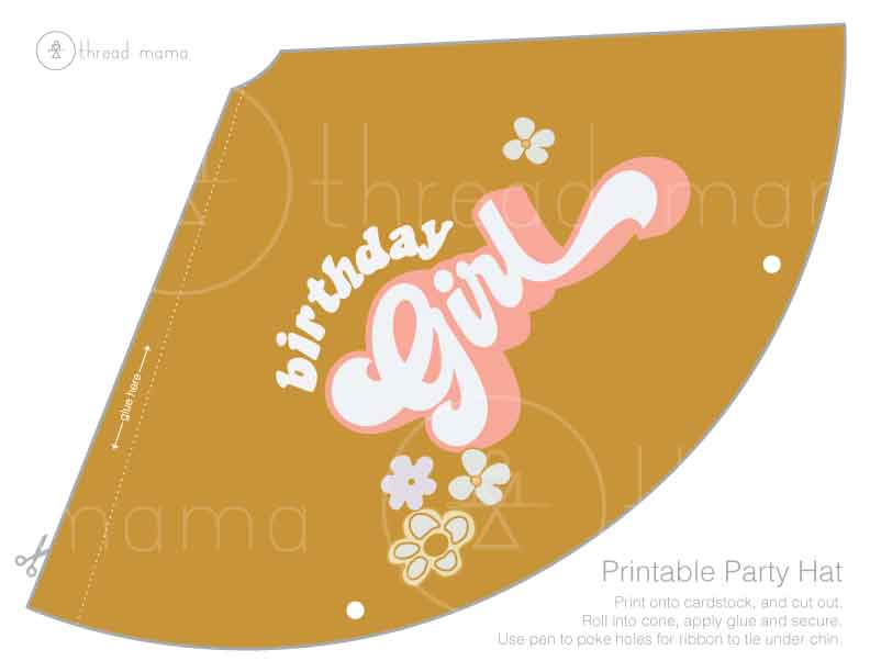 Birthday Girl (Printable Party Hat)