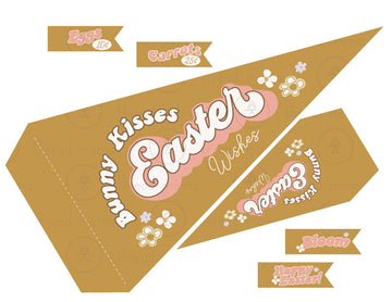 Bunny Kisses (Printable Pennant)