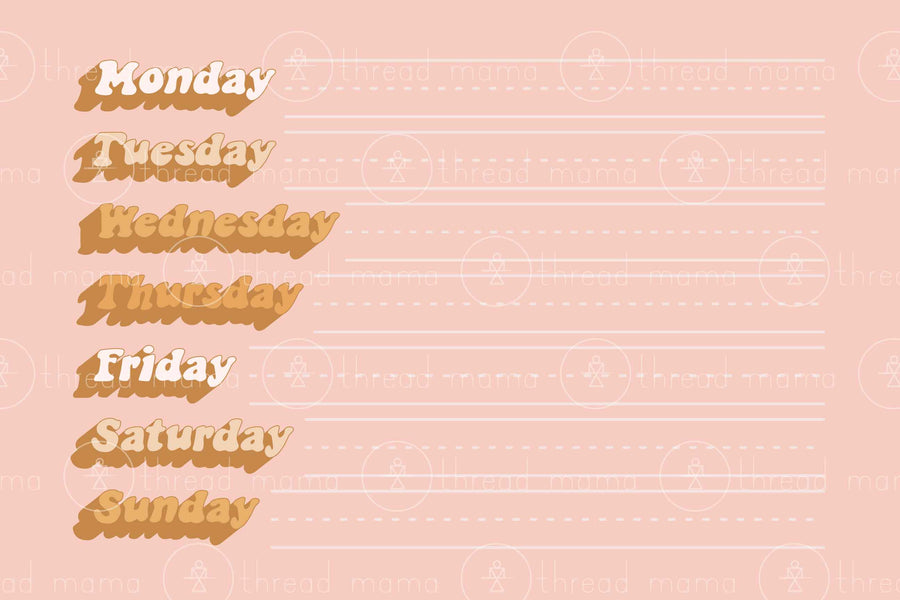 Days of The Week (Printable Poster)