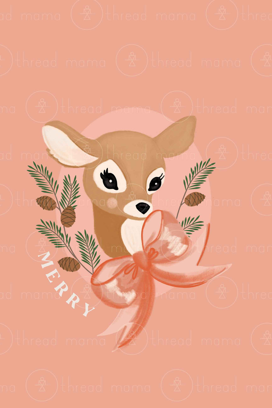 Holiday Deer Set (Printable Poster)