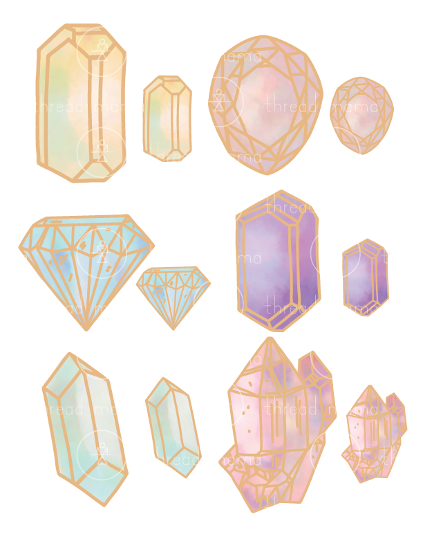 Gems and Sparkles (Printable Pennant/Tags)