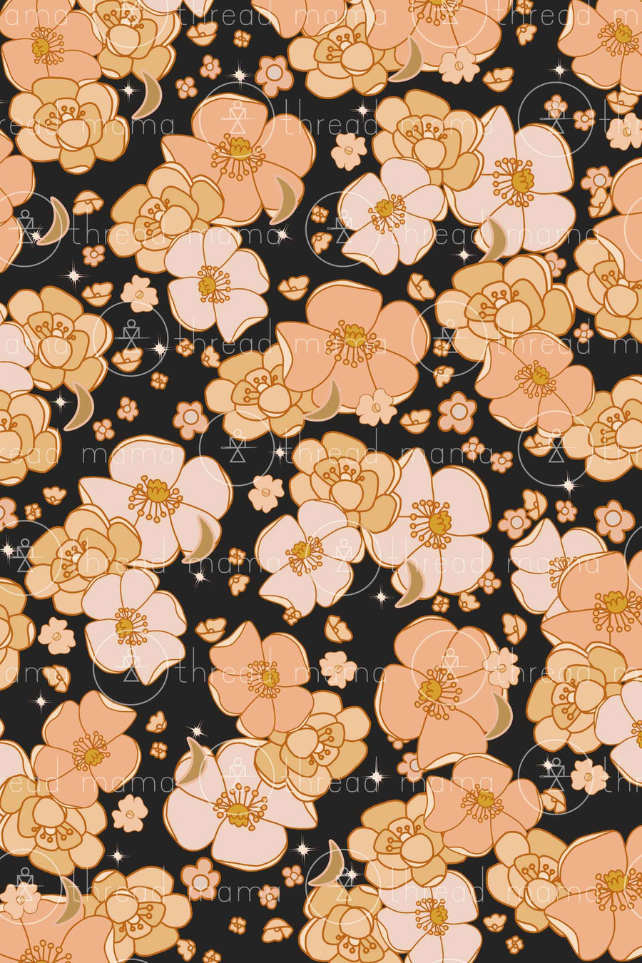 Fall Floral Background 1 (Printable Poster)