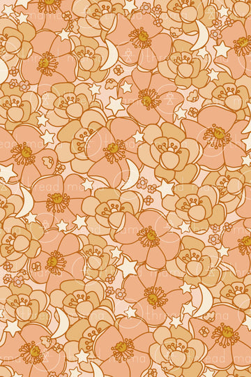 Fall Floral Background 2 (Printable Poster)