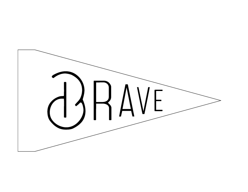 DIY Embroidery Pennant (BRAVE 2 Pattern)