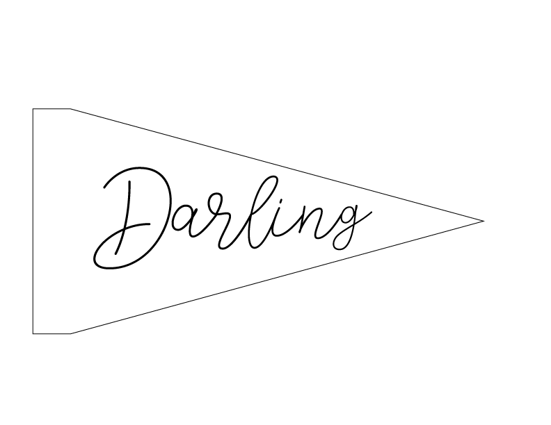 DIY Embroidery Pennant (Darling Pattern)