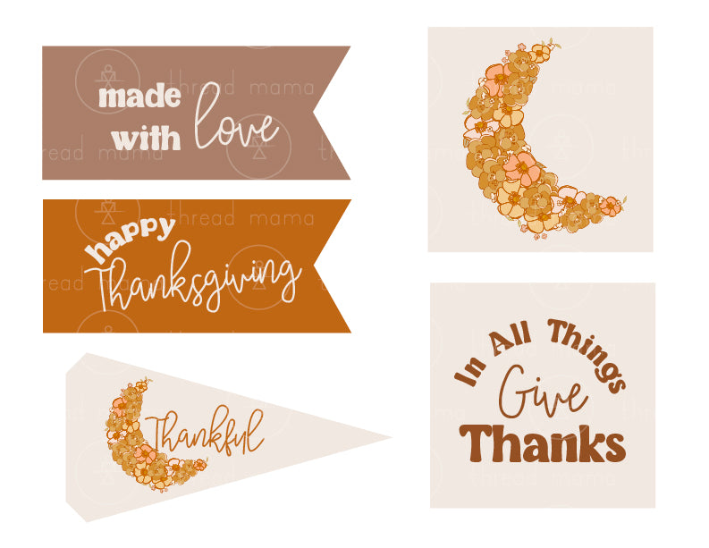 Thanksgiving Tags and Pennants