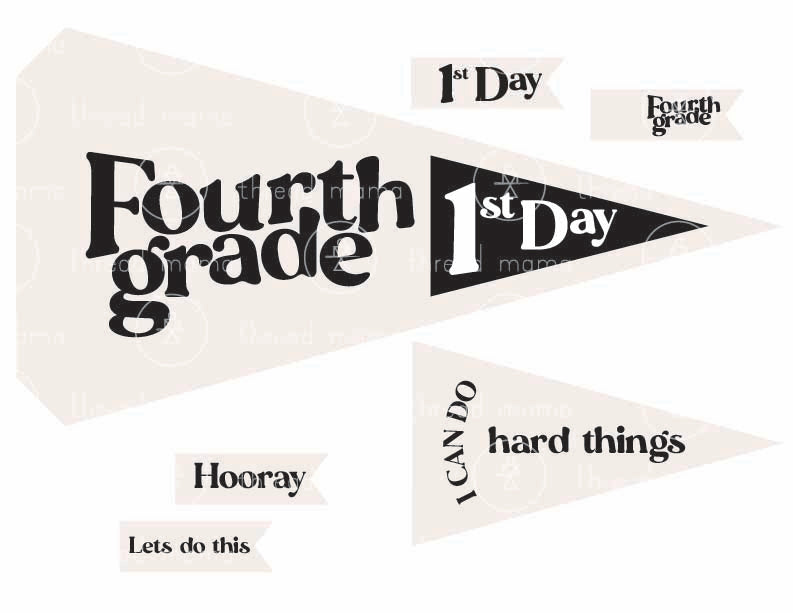 Back to School Printables (Printable Pennant)