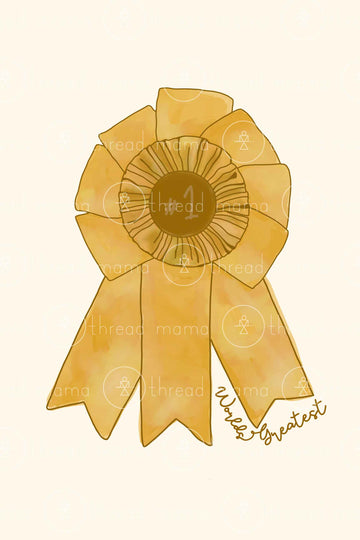 Gold Ribbon (Printable Poster)