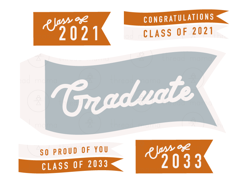 Graduate/ Teacher/ Last Day of School Tags and Flags 2021