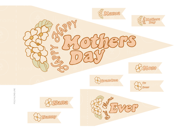 Happy Mother's Day (Printable Pennant)
