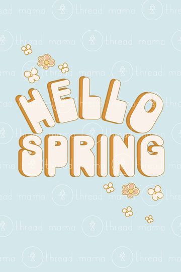 Hello Spring Version 2 (Printable Poster)