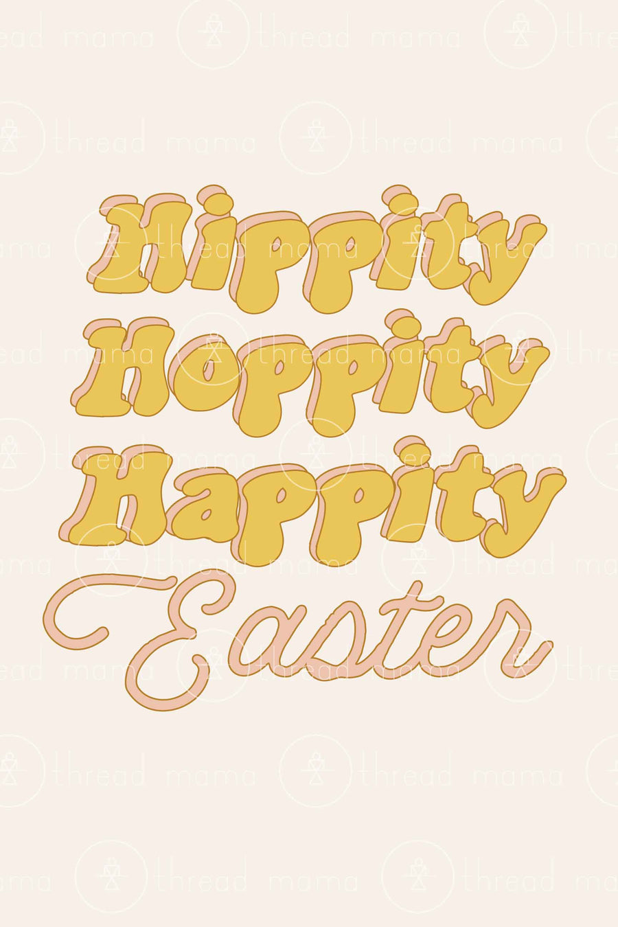 Hippity Hoppity Happity Easter (Printable Poster)
