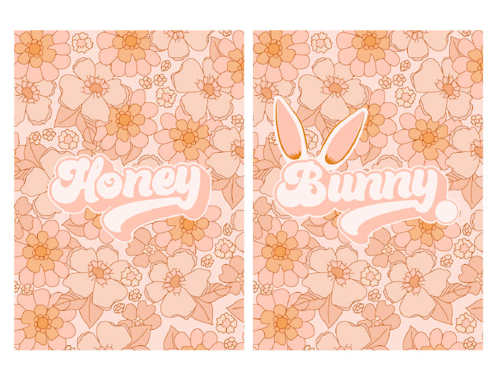 Honey Bunny Floral Set (Printable Poster)