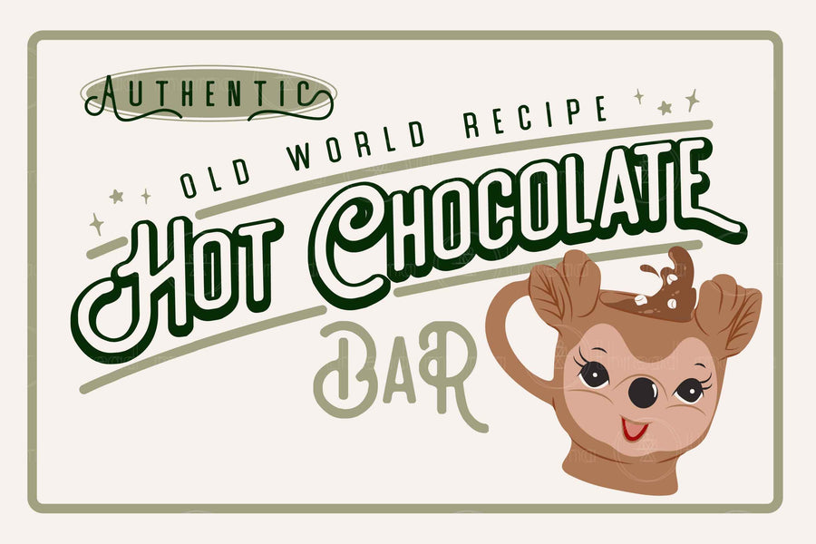 Hot Chocolate Signs ( 3 colorways )