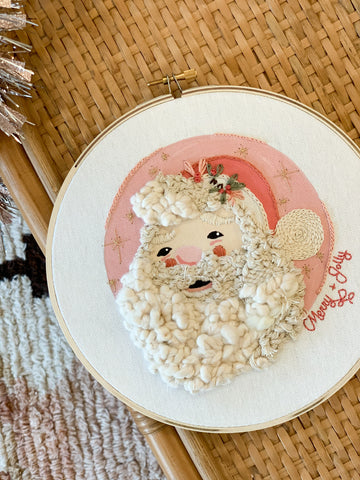 Woven Santa Art - Light Skin Tone