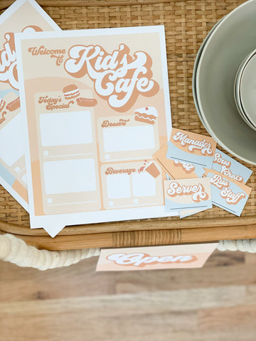 Kid's Cafe (Printables)