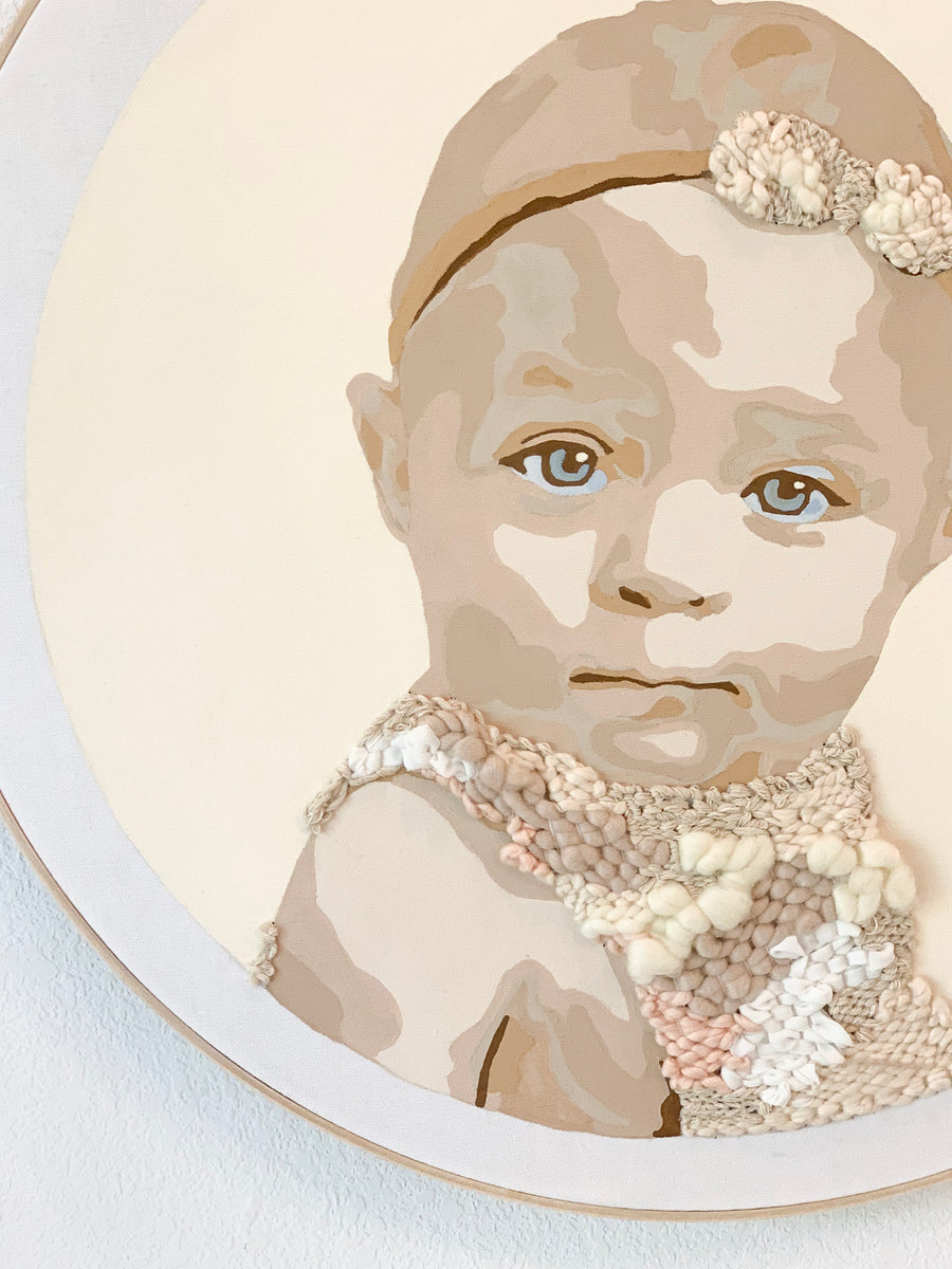 Custom Painted and Woven Portraits