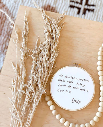 The Hooped Letter - hand embroidered messages