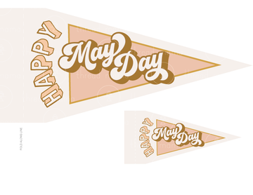 Happy May Day (Printable Pennant)