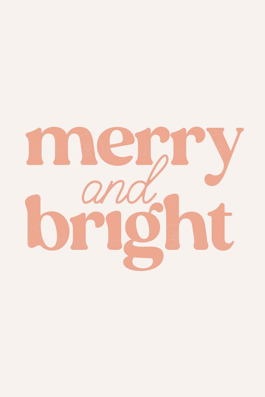 Merry & Bright (Printable Poster)