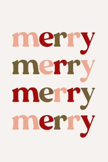 Merry Merry Merry (Printable Poster)