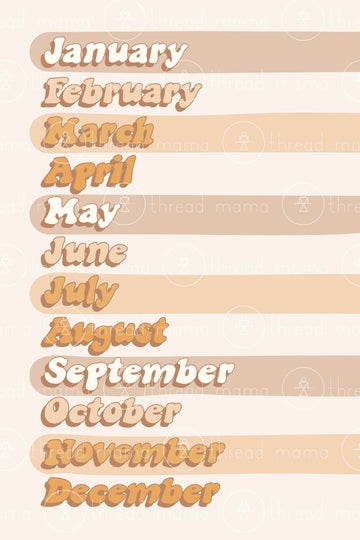 Months of the Year (Printable Poster)