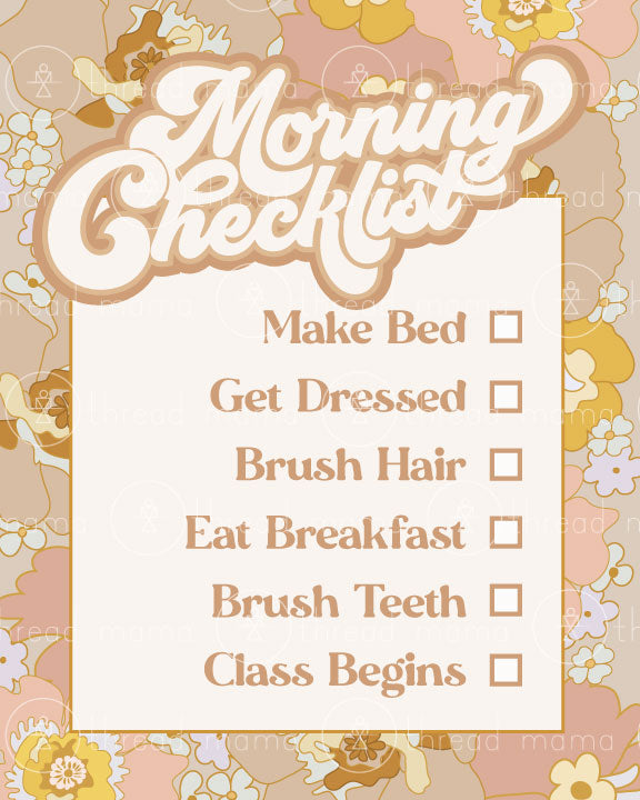 Morning Checklist (Printable Poster)