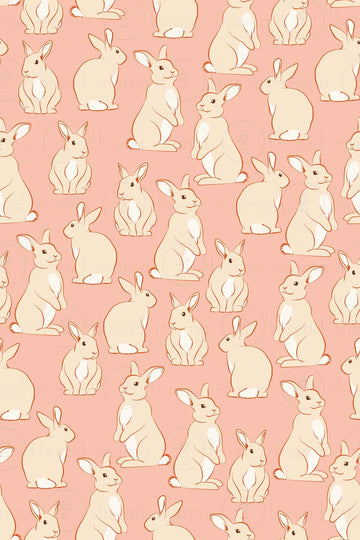 Bunny Background Collection (Printable Poster)