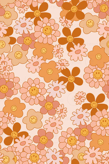 Smiley Floral Collection (Background Patterns)