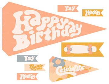 Skater Party Printables (3 Color Options)
