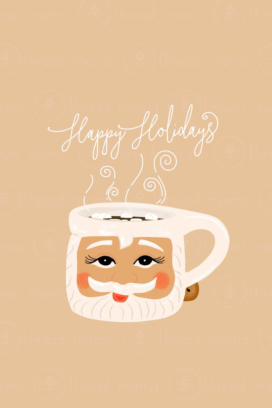 Santa Mugs -  Thread Mama + @stateofthemother ( Light Skin )