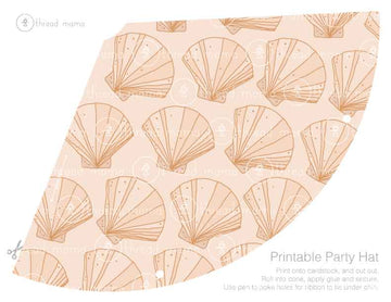 Shell Pattern (Printable Party Hat)