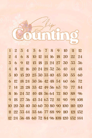 Skip Counting Chart - Gem Collection (Printable Poster)