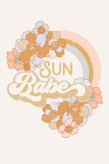 Sun Babe - 2 colors included (Printable Poster)