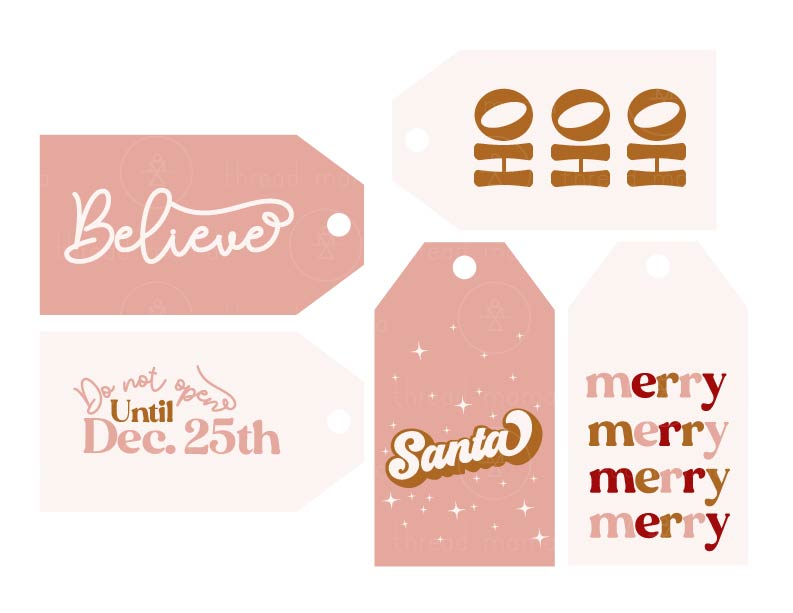 Holiday Tags and Pennants - Gold