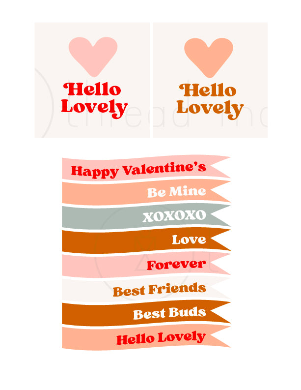 Valentine's Tags / Flags Collection #1