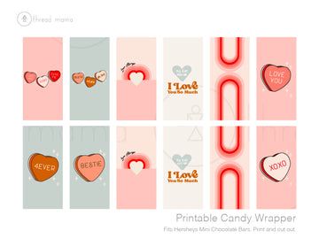 Valentine's Candy Wrappers (Both Large and Small)