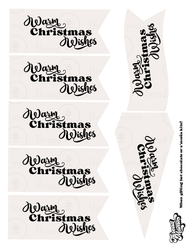 Christmas Gift Basket Tags