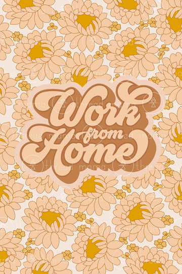 Work From Home (Printable Poster)