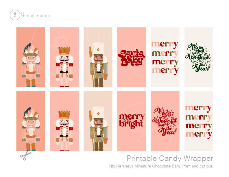 Christmas Candy Wrappers (Both Large and Small)