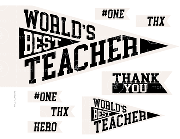World's Best Teacher - 2 color options! (Printable Pennant)