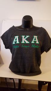 AKA Off The Shoulder Sweatshirt(Shortsleeve)Black