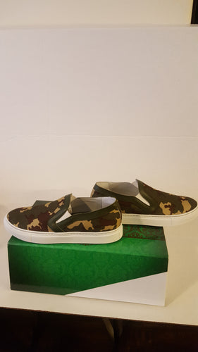 ITALIAN LEATHER CAMO COLLECTION SNEAKERS