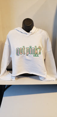 ALPHA KAPPA ALPHA (GOT PINK CROPPED) SWEATSHIRT