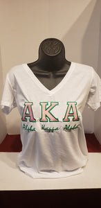 AKA (BOLD)V-NECK TEE (Green)