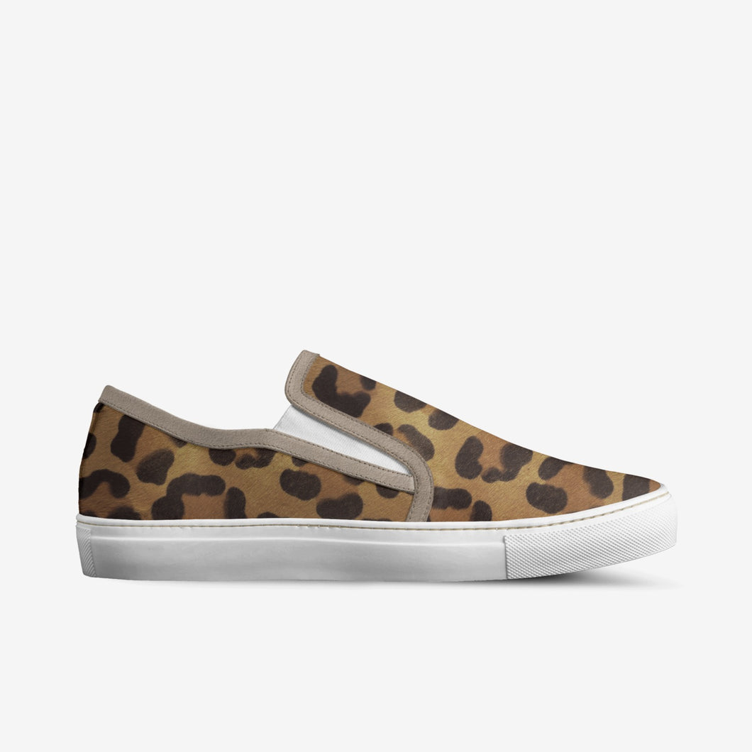 ITALIAN LEATHER JAGUAR PRINT SNEAKERS